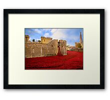 Poppies At Tower Of London Framed Print