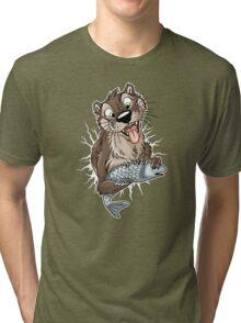 STUCK Otter (white cracks) Tri-blend T-Shirt