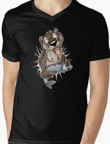 STUCK Otter (white cracks) Mens V-Neck T-Shirt