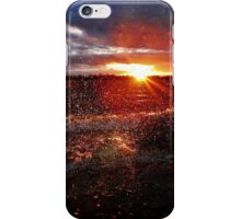 Wind sprayed sunset iPhone Case/Skin