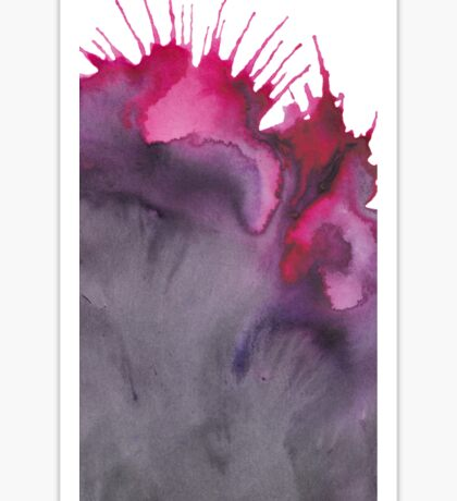 Abstract watercolor purple texture  Sticker