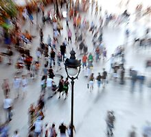 Place D'Angel, Barcelona - People by jookboy