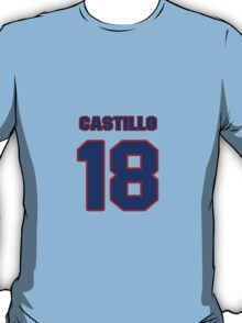 National baseball player Alberto Castillo jersey 18 T-Shirt