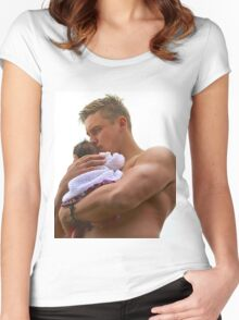 daddy will take care Women's Fitted Scoop T-Shirt