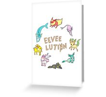 Eeveelution Greeting Card