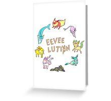 Eeveelution Greeting Card