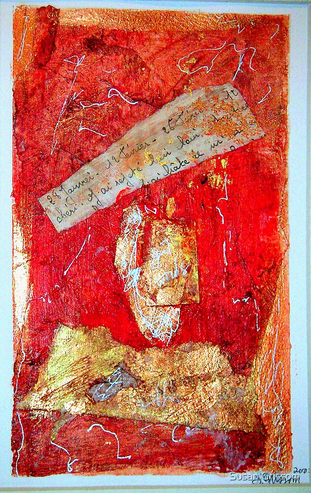 Red Collage by Susan Grissom