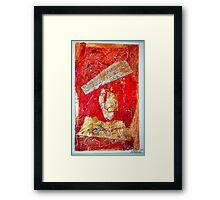 Red Collage Framed Print