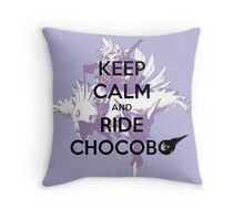 Keep Calm and Ride Chocobo - Final Fantasy 7 Throw Pillow