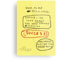 HOW TO BE SUCCESSFUL Metal Print