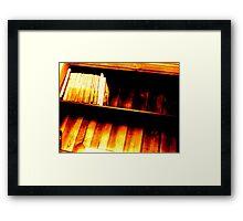 Bookshelf 1 Framed Print