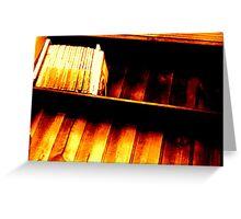 Bookshelf 1 Greeting Card