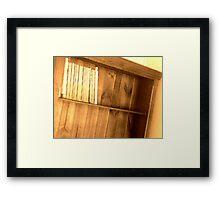 Bookshelf 2 Framed Print