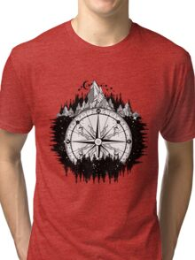 Mountain and compass Tri-blend T-Shirt