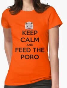 Feed Poro :D Womens Fitted T-Shirt