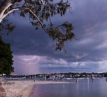 Lightning in Gunnamatta by MagnusAgren