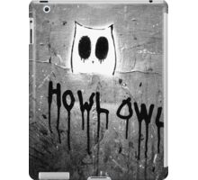 Howl Owl black and white graffiti iPad Case/Skin