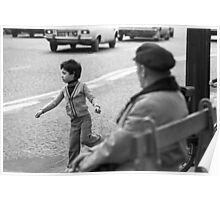 Collector, On the Way to M.Cartier Bresson Paris 1975 23 (b&n)(t) by Olao-Olavia par Okaio Création Poster