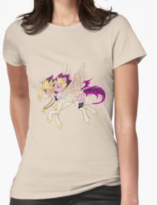 My little pony Yu-Gi-Oh! Womens Fitted T-Shirt
