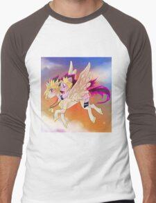 Yu-Gi-Oh!+My little pony sunset Men's Baseball ¾ T-Shirt