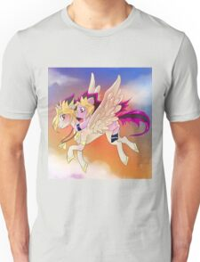 Yu-Gi-Oh!+My little pony sunset Unisex T-Shirt