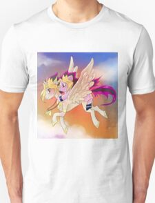 Yu-Gi-Oh!+My little pony sunset Unisex T-Shirt