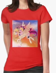 Yu-Gi-Oh!+My little pony sunset Womens Fitted T-Shirt