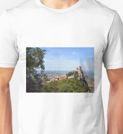 Rocca della Guaita, the most ancient fortress of San Marino, Italy Unisex T-Shirt