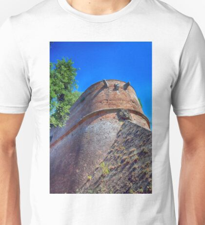 Castle in Siena, Fortification Wall Detail, Tuscany, Italy Unisex T-Shirt