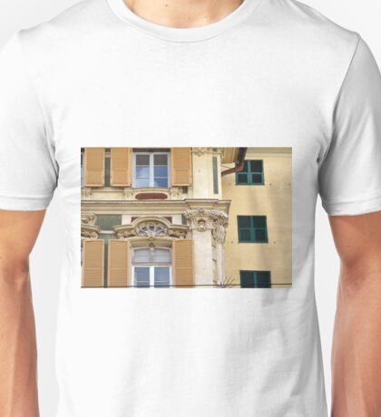 Classical Italian building facade with decorations Unisex T-Shirt