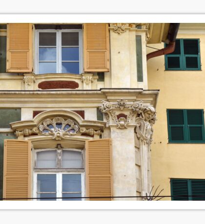 Classical Italian building facade with decorations Sticker