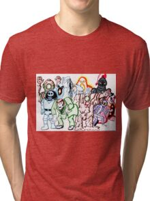 Scooby Doo monsters montage Tri-blend T-Shirt
