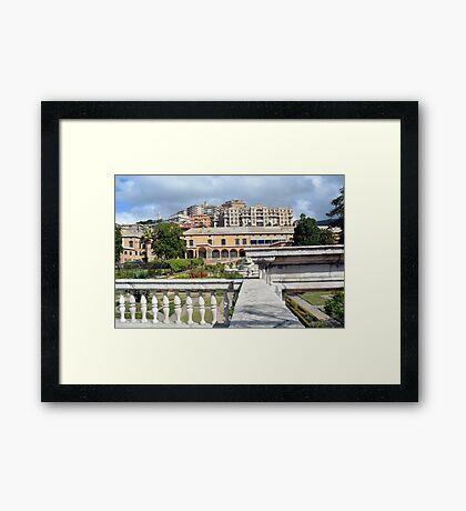 Beautiful Italian architecture from Genova, Italy Framed Print