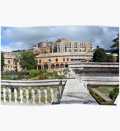 Beautiful Italian architecture from Genova, Italy Poster