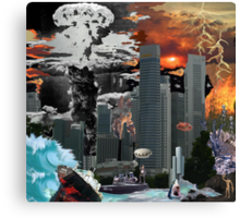 "my vision of ""Infinite Future Chaos"". Canvas Print"