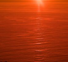 Sunset on Stromboli by Tom Gliss