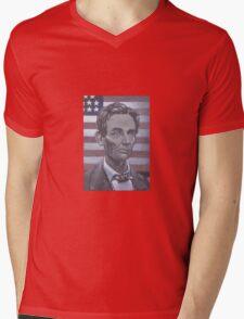 Abe Lincoln Mens V-Neck T-Shirt