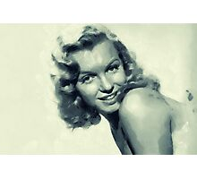 marylin in blue Photographic Print