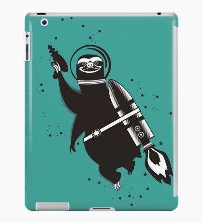 Outer space sloth rocket ray gun iPad Case/Skin