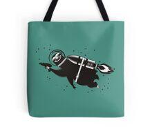 Outer space sloth rocket ray gun Tote Bag