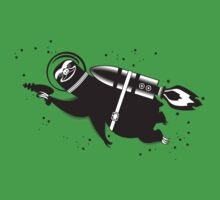 Outer space sloth rocket ray gun Baby Tee