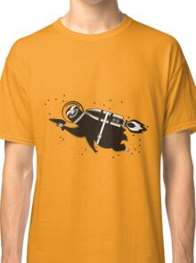 Outer space sloth rocket ray gun Classic T-Shirt