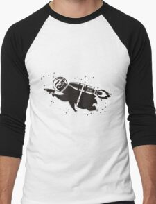 Outer space sloth rocket ray gun Men's Baseball ¾ T-Shirt