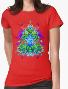 Psychedelic Trance inspired Womens Fitted T-Shirt