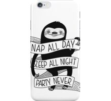 Life Sloth iPhone Case/Skin