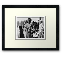 Marilyn in the movies Framed Print