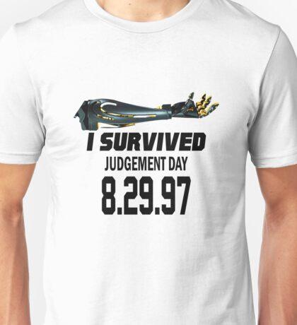 I Survived Judgement Day Terminator black Unisex T-Shirt