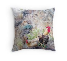 Greek Chickens Throw Pillow