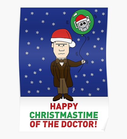 Doctor Who Xmas Card Poster