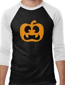 Scary Jack-O-Lantern Men's Baseball ¾ T-Shirt
